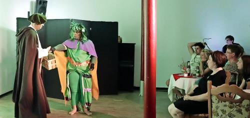 Mit Vergnügen folgte das Publikum in der Kleinkunstbühne der Theaterloge den turbulenten Verwicklungen. Foto: bkh1